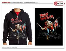 AUTHENTIC IRON MAIDEN SCUFFED TROOPER HEAVY METAL ROCK MUSIC MENS HOODIE S-2XL