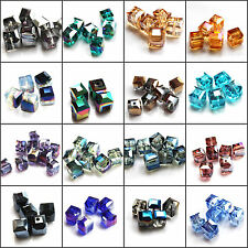 Wholesale 11 colors 10pcs 10mm Faceted Square Cube Cut Glass Crystal Beads