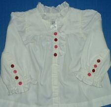 Girls White Long Short Sleeve All Seasons Blouses Chocolate Soup Gymboree