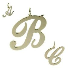 925 STERLING SILVER ANY INITIAL LETTER DROP PENDANT SMALL MEDIUM LARGE
