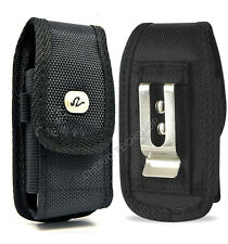 Black Vertical Nylon Canvas Belt Clip Loop Case Pouch Cover for LG Cell Phones