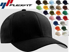 6277 Flexfit Wooly Combed Twill Fitted Baseball Blank Plain Hat Cap Flex Fit
