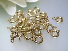 5, 10, 50 pcs 14k gold filled 5.5 mm spring ring clasps made in USA