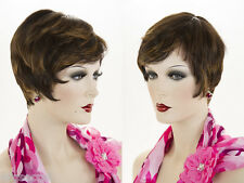 Short Lace Front Heat Friendly Straight Brunette Red Wigs
