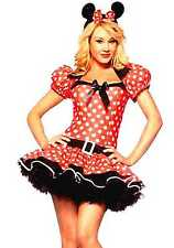 Womens Minnie Mouse Costume All Sizes Plus Size Fancy Dress Costume