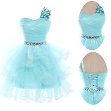 A Line 2013 Homecoming Formal Dresses Short Cocktail Party Prom Gowns Light Blue