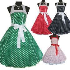 Vintage Polka Dot Spot Swing 50s 60s Dress Pinup Retro Rockabilly Party Dress