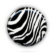Badge ZEBRE pop rock rockabilly 80's punk ska goth emo culte retro kawaii Ø25mm