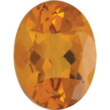 NATURAL DEEP ORANGE-GOLD MADIERA CITRINE - OVAL - BRAZIL - AAA GRADE