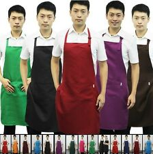1pc Spun Poly Craft Commercial Apron Restaurant Kitchen Cooking Chefs BIB Aprons