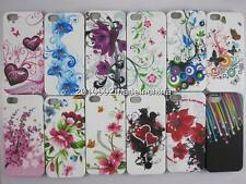 Colorful Butterfly flower Star Heart Soft TPU Cover case Fo Apple iPhone5 5G 5S