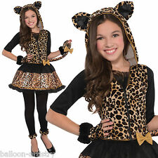 Girls Sassy Spots TEEN LEOPARD Jungle Cat Fancy Dress Animal Costume