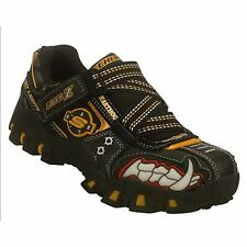 New! SKECHERS Light up- Deflecktord WartHog Shoes Black/Gold Boys Child/Youth!