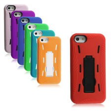 New Hybrid Kickstand Case for Apple iPhone 5 Hard Plastic Shell Cover Skin