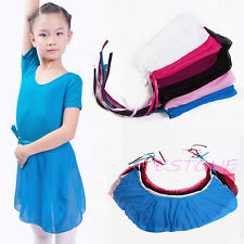 Candy Colors Children Kids Girl Ballet Tutu Dance Skirt Skate Wrap Chiffon Scarf