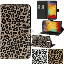 Leopard Cheetah Flip Wallet Stand Holder Case For iPhone 6 Samsung S5, S4, S3