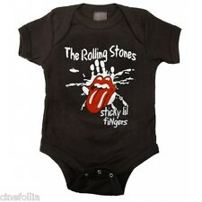 Body bimbo the Rolling Stones Sticky Lil Fingers Baby Onesie snapsuit ufficiale