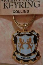Collins to Delaney KEYRING Coat of Arms - Heraldic Crest - Metal Key Chain