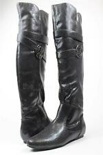 New Kathy Van Zeeland US Multi Size 'Babe' Black Tall Boots