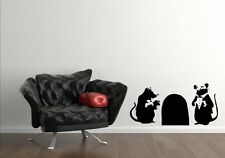 Modern art Rats With Mouse Hole wall laptop car vinyl wall stickers high quality