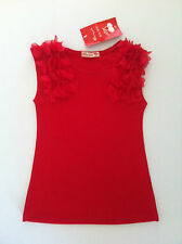 NWT CHERRY PIE LITTLE RED DRESS WITH FLOWER DETAIL SZ 1-6