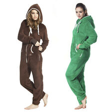 Nodic Way One Piece Jumpsuit Adult Women Romper Teddy Bear Fleece Playsuit hoody