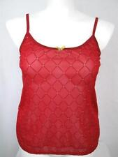 NWOT Cacique by Lane Bryant Plus Size Mesh Cami Red Diamond Pattern