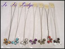 Necklace & Earring Set - Butterfly Pendant/ Stud CZ Earrings-(Marysol) -U123