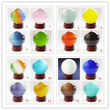 DJ-40  Mixed Color Cat's Eye Crystal Ball Orb Sphere 35mm,40mm,50mm,60mm