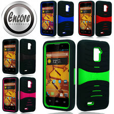 Heavy Duty Hybrid Kickstand Cover for ZTE N9510 Warp 4G Case For Boost Mobile