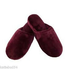 Isotoner Garnet RosePlush Velor Wedge Slip On House Slippers Memory Foam