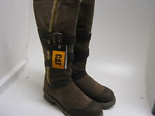 LADIES CAT LONG SUEDE LEATHER BOOTS IN FERN BROWN  JOHANNA