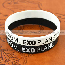 1PC New Fashion EXO Team Logo Silicone Neon Wristband Bracelet