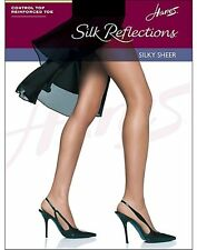 Hanes Hosiery Silk Reflections Control Top, Reinforced Toe Pantyhose 4-Pack 718