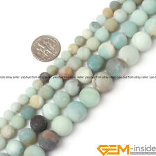 Round Frost Mixed Amazonite Jewelry Making loose gemstone beads strand 15""