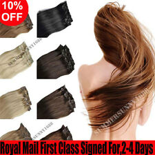 Premium Clip In 100% Real Remy Human Hair Extensions Best Wefted Factory Price