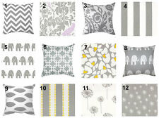 Premier Prints Storm Grey Decorative Pillow Covers / Gray Sham Cover -