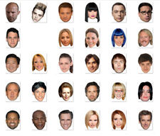 BATCH #2 - DO IT YOURSELF (DIY) CELEBRITY FACE MASKS - 30 TO CHOOSE - LOW PRICE!