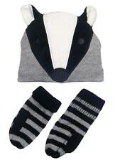 Girls Toddler Warm Badger Animal Winter Critter Hat and Mitten Set by Carters