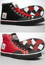 Vision Street Wear Canvas Hi Mens Trainers All Sizes Bargain Price