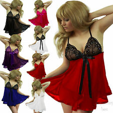 Sexy Lingerie Nightwear Underwear Babydoll Dress Womens Plus Size 8-26 Sleepwear