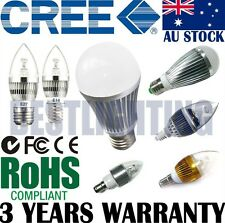 CREE LED Bayonet Edison Light Bulb Globe Lamp Cool Warm White E14 B15 B22 E27