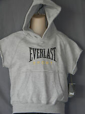 Everlast Distressed Hoodie Kids Sizes Sweatshirt Boxing Sport Gym Workout Gray