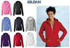 Gildan - Heavy Blend Missy Fit Full-Zip Hooded Sweatshirt Women's Hoodie 18600F