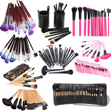6/7/12/16/24/32 PCS Makeup Brush Set Pro Cosmetic Make Up Kit + Pouch Bag Case
