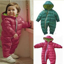 Boy Girl Baby Clothes Winter  Coat Siamese Jacket Outerwear