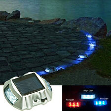 Solar Powered 6 LED Pathway Driveway Security Dock Light Garden Landscape Lamp