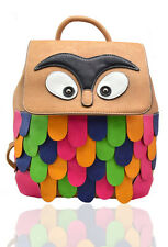 Owl Backpack Ruck sack Funky fresh New Unique Quality Winter Christmas Present