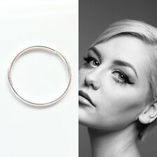 Sterling Silver Seamless Nose Ring Hoop Stud Small Body Piercing 8mm & 10mm