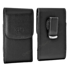 Vertical Leather Belt Clip Case Pouch Cover for Huawei Cell Phones ALL CARRIERS